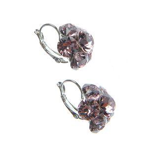 Cercei dama Swarovski lila