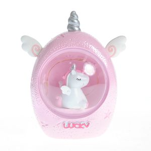 Lampa unicorn roz