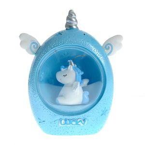 Lampa unicorn albastru