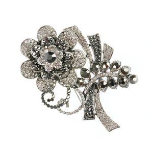 Brosa  maxi floare argintie