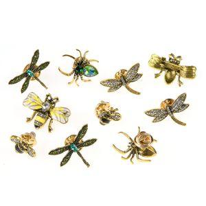 Set 10 brose martisor insecte