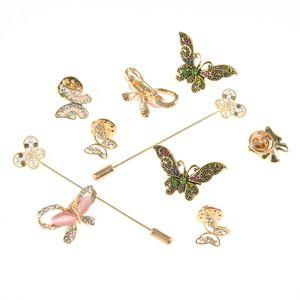 Set 10 brose martisor cu fluturi