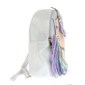 Rucsac argintiu cu unicorn