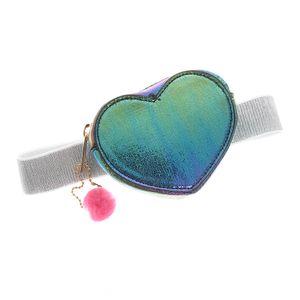 Borseta fetite inima multicolora
