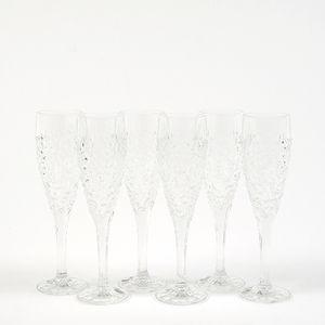 Set cristal 6 pahare FLUTE