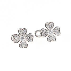 Cercei argint floare zirconiu