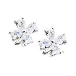Cercei argint floare zirconica