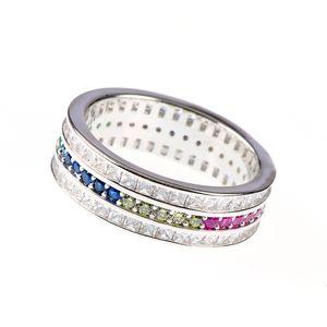 Inel argint zirconiu colorat