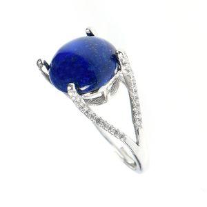 Inel argint piatra bleumarin