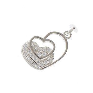 Pandantiv din argint contur de inimi