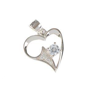 Pandantiv din argint model inima