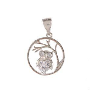 Pandantiv din argint  Bufnita stilizata