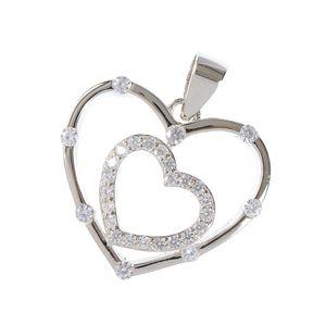 Pandantiv din argint doua inimi