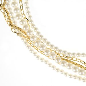 Colier bogat perle acrilice