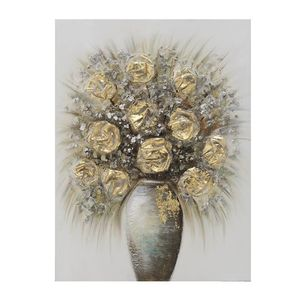 Tablou Canvas vaza cu flori galbene 60 x 3x 80cm