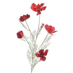 Ramura artificiala cu flori rosii