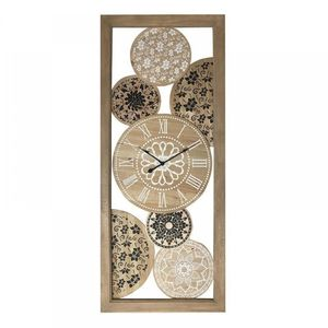 Ceas decorativ de perete din lemn 52x4x 124 cm