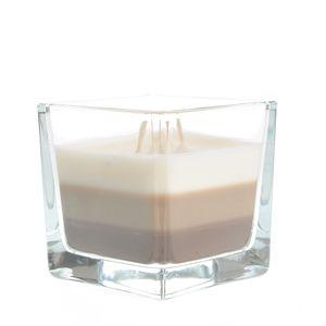 Lumanare 3 culori vanilie