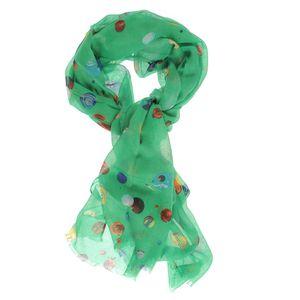 Esarfa verde buline colorate
