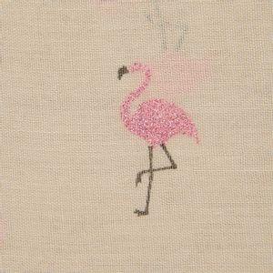 Esarfa bej cu flamingo