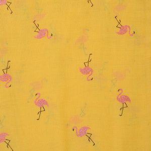 Esarfa galbena cu flamingo