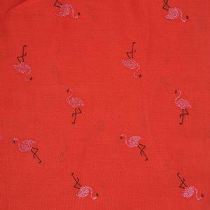 Esarfa cu pasari flamingo