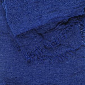Esarfa creponata albastra