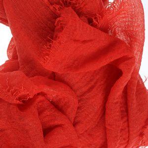 Esarfa creponata rosie