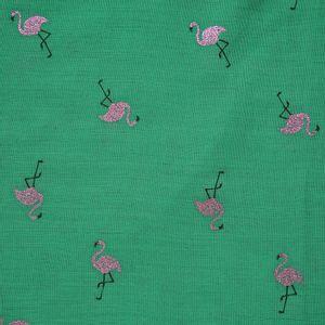 Esarfa verde cu flamingo