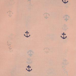 Esarfa roz desene ancore