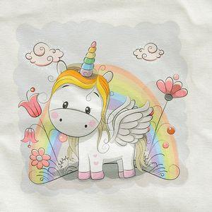 Sacosa copii decor unicorn