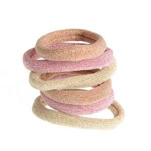 6 elastice cu fir auriu