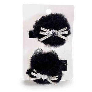 Agrafa neagra model pisica pentru copii