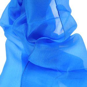 Esarfa albastra de matase