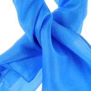 Esarfa patrata din matase albastra