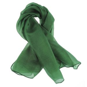 Esarfa din matase verde smarald