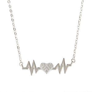 Colier din argint pulsul inimii