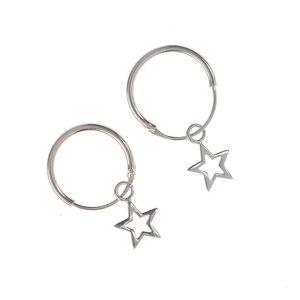 Cercei din argint  cu pandantiv stea