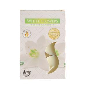 Set 6 lumari parfumate Flori albe