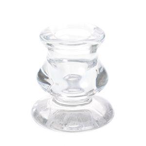 Suport din sticla pentru lumanari tip sfesnic
