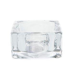 Suport din sticla pentru lumanari tip pastila