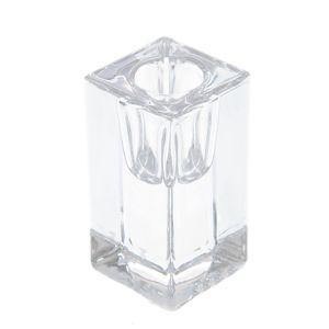 Suport din sticla pentru lumanari conice