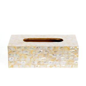 Cutie servetele  din lemn cu design sidefat