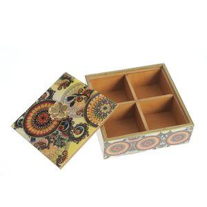 Cutie pentru ceai cu 4 compartimente
