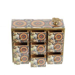 Cutie de bijuterii din lemn design mandala