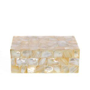 Cutie de bijuterii  din metal si sidef