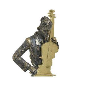 Statueta decorativa muzicant la contrabas