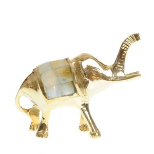 Statueta M elefant auriu