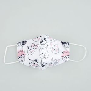 Masca texila cu pisici pentru copii