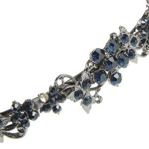 Bentita argintie cu flori albastre